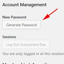 Generating unique password helps WordPress Security.